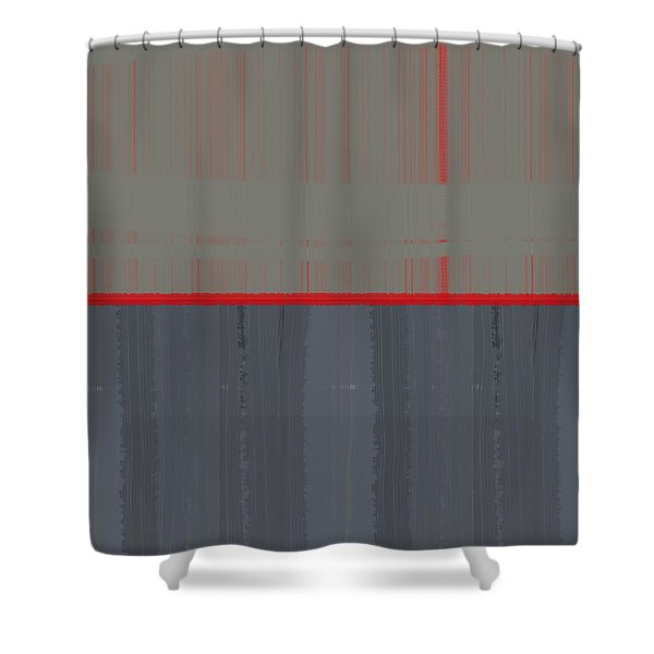 Red Stripe Shower Curtain