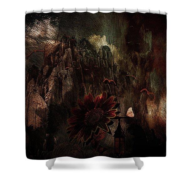 Red Sunflower Shower Curtain