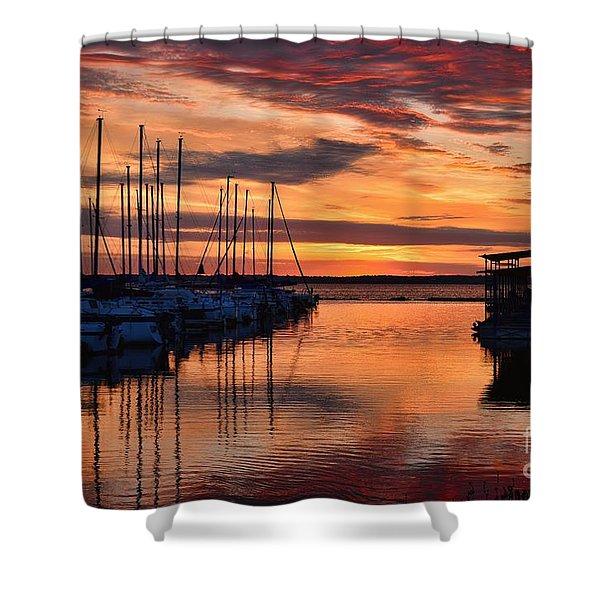 Red  Sunrise Shower Curtain