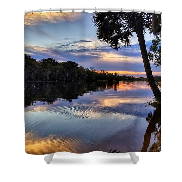 Red Tranquility  Shower Curtain