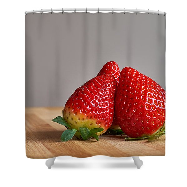 Red Trio Shower Curtain