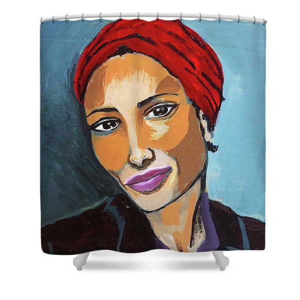 Red Turban Shower Curtain
