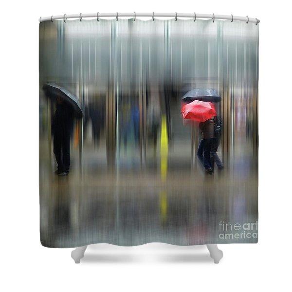 Red Umbrella Shower Curtain