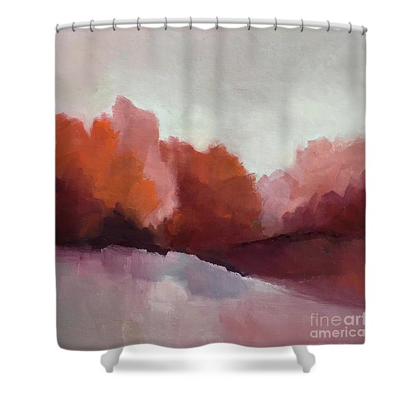 Red Valley Shower Curtain