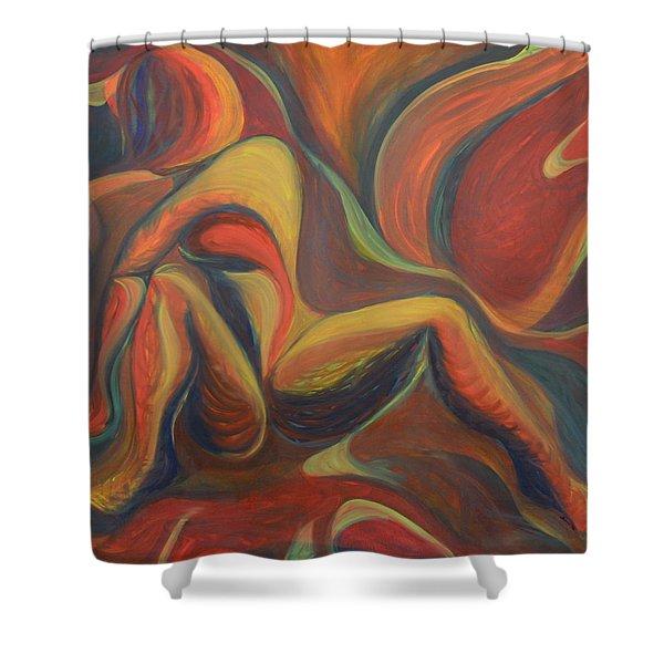 Red Venture Unknown Shower Curtain