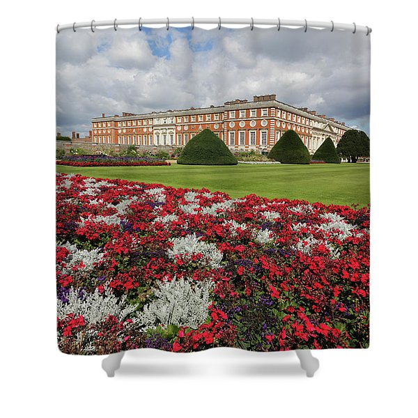 Red White And Blue At Hampton Court Shower Curtain