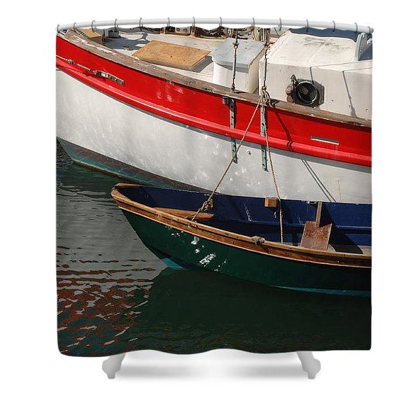 Red White And Blue Shower Curtain