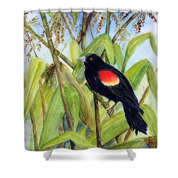 Red-winged Sentry Shower Curtain