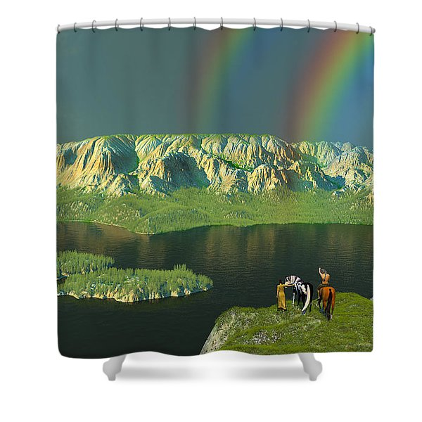 Redemption For An Angry Sky Shower Curtain