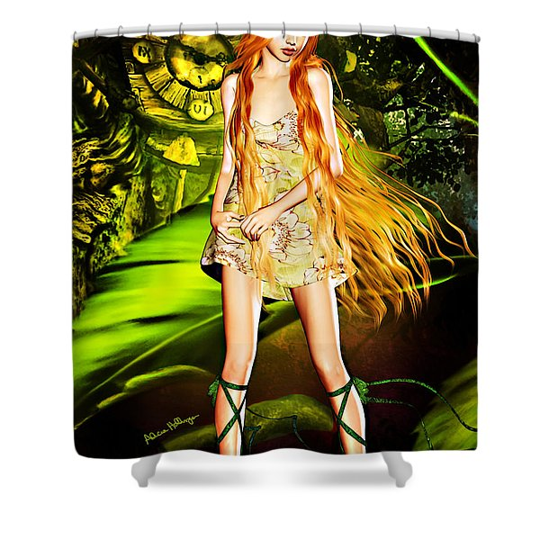 Redhead Forest Pixie Shower Curtain