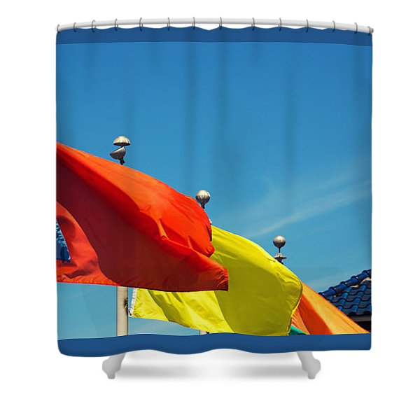 Redondo Beach Flags Shower Curtain