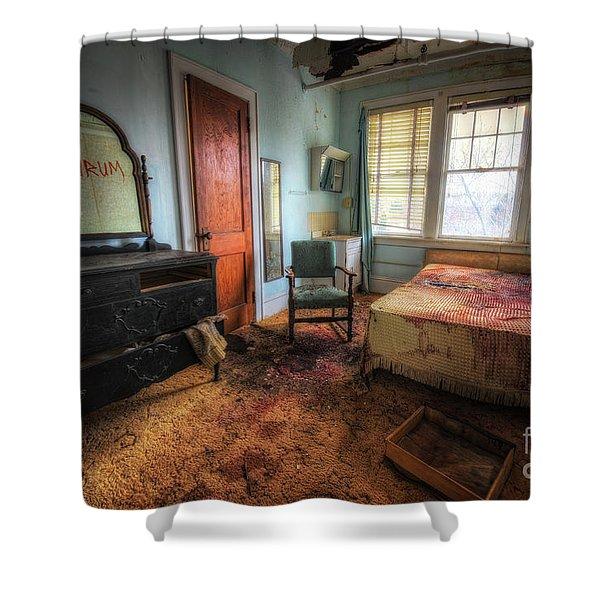 Redrum Shower Curtain