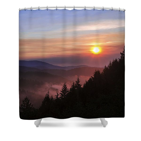 Redwood Sun Shower Curtain