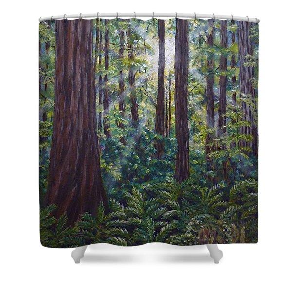 Redwoods Shower Curtain