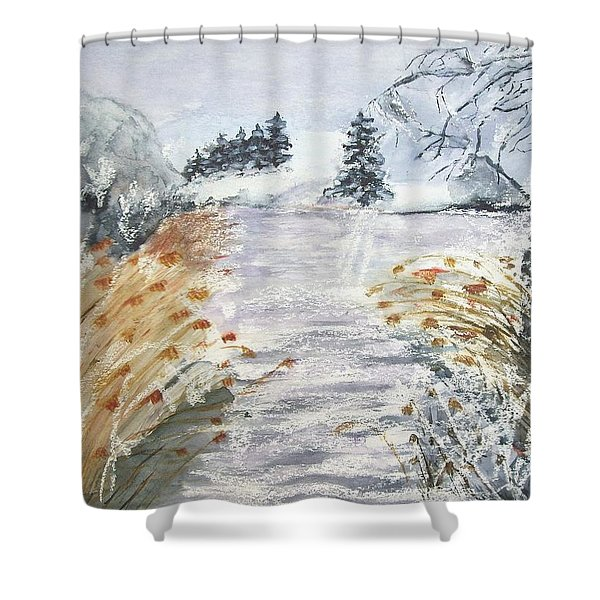 Reeds On The Riverbank No.2 Shower Curtain
