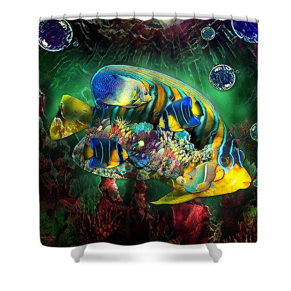 Reef Fish Fantasy Art Shower Curtain