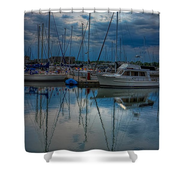 Reefpoint Marina Square Format Shower Curtain