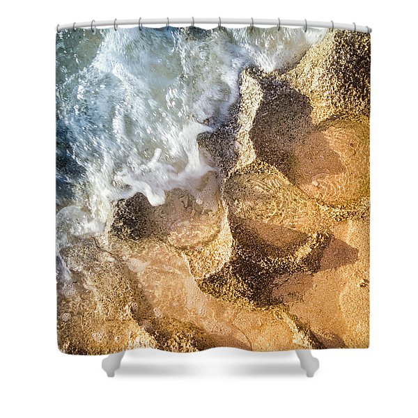 Reefy Textures Shower Curtain