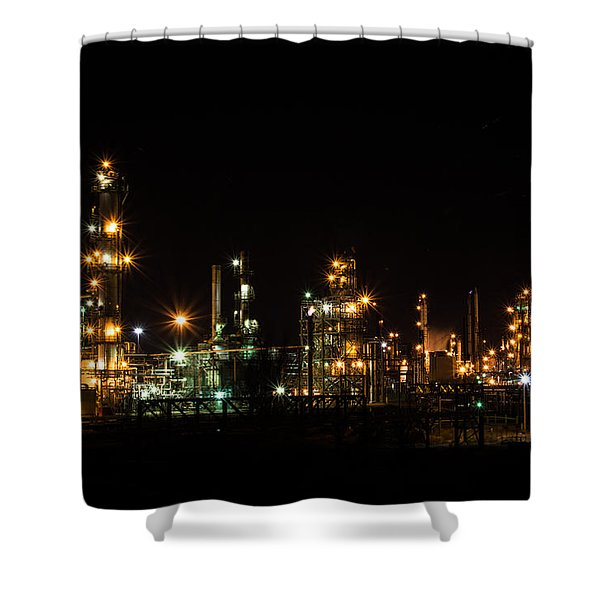 Refinery At Night 2 Shower Curtain