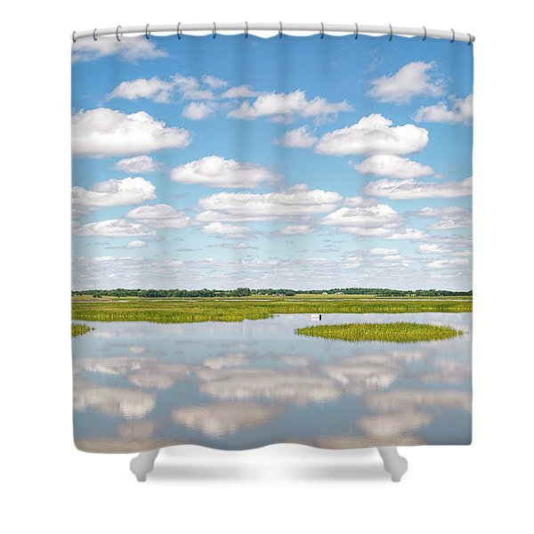 Reflected Clouds - 02 Shower Curtain