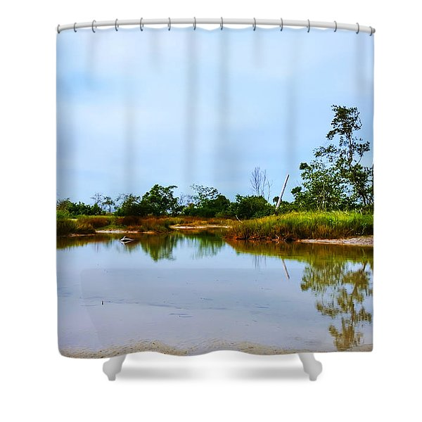 Englewood Beach Shower Curtain