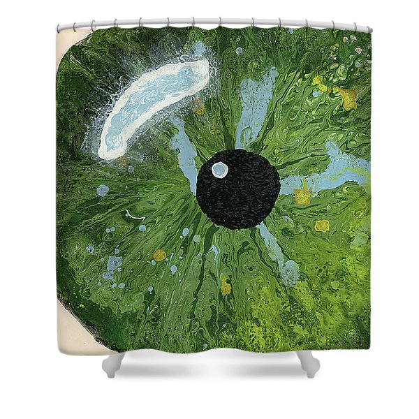 Reflected In The Eye Of A Child Never Born Shower Curtain