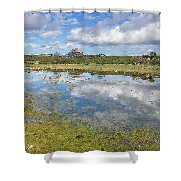 Reflected Mountains Shower Curtain