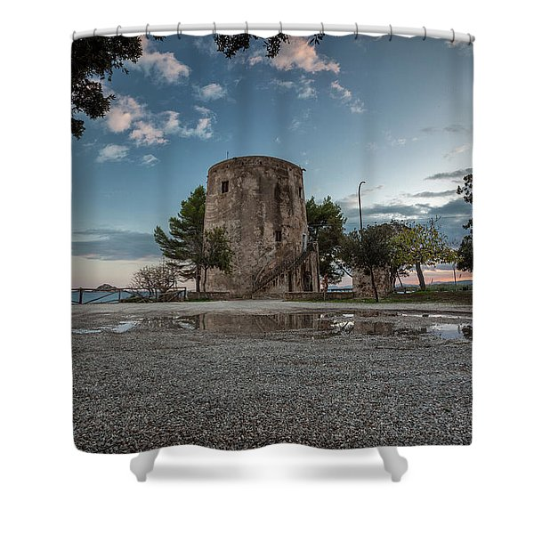 Reflected Tower Shower Curtain