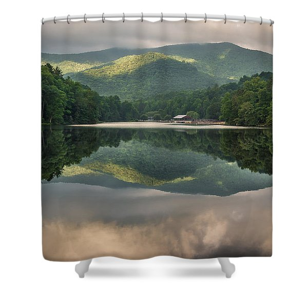 Reflecting At Vogel Shower Curtain