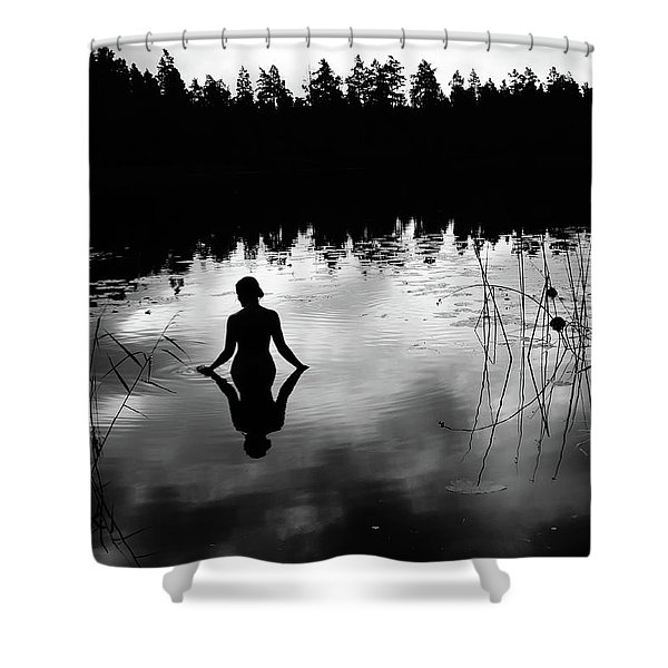 Reflecting Beauty Bow Shower Curtain