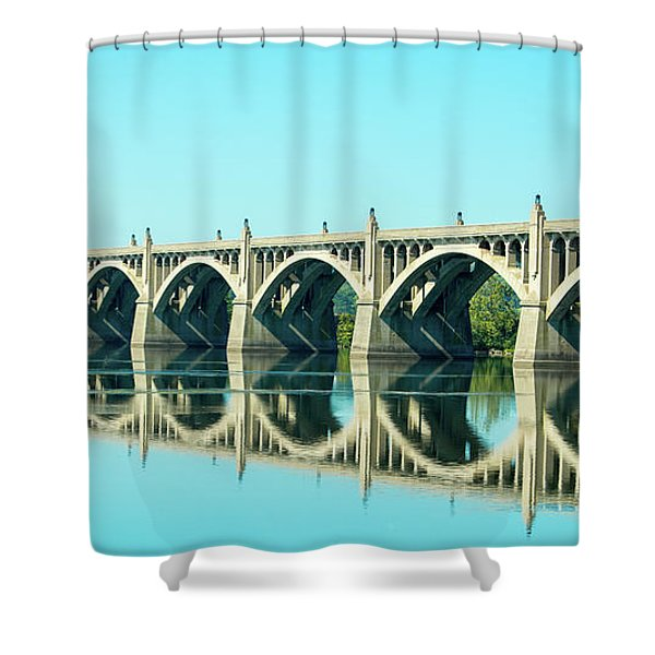 Reflecting Bridge Shower Curtain