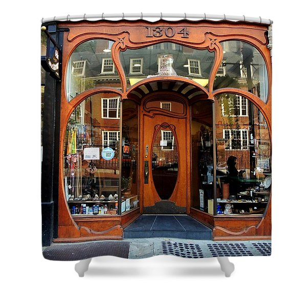 Reflecting On A Cambridge Shoe Shine Shower Curtain