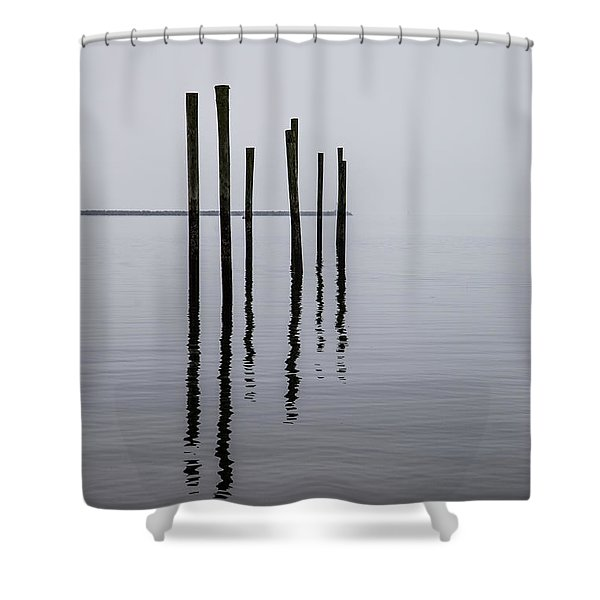 Reflecting Poles Shower Curtain