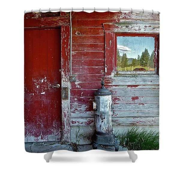 Reflecting The Landscape Shower Curtain