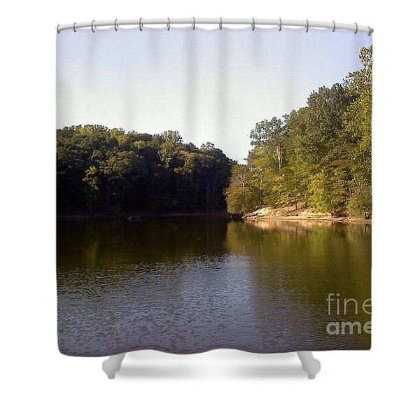 Reflecting Water Shower Curtain