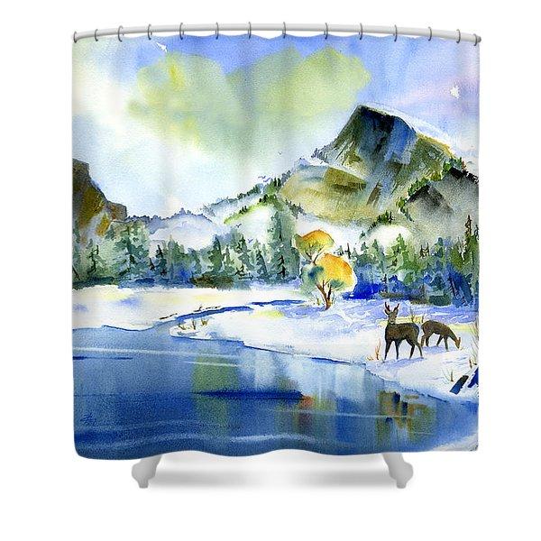 Reflecting Yosemite Shower Curtain