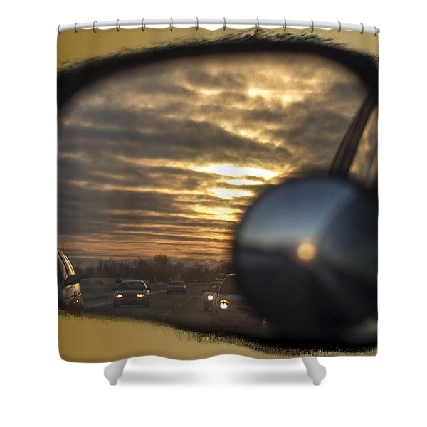 Reflection Of A Sunset Shower Curtain