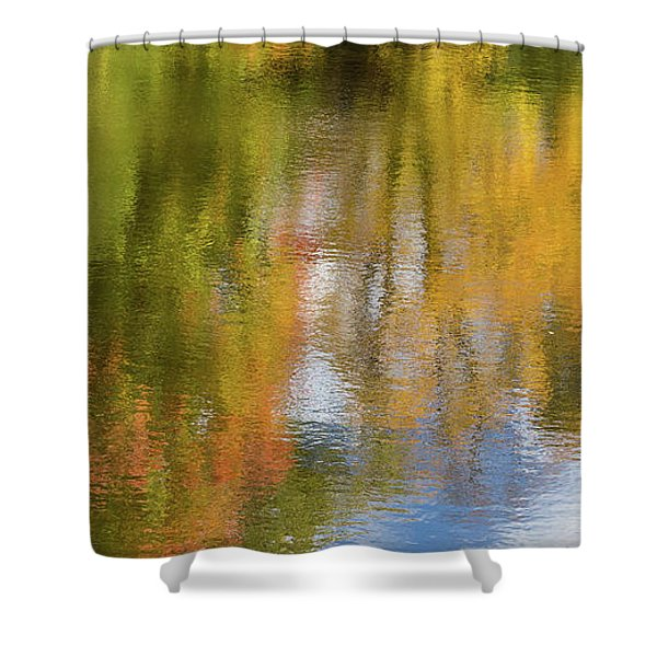 Reflection Of Fall #1, Abstract Shower Curtain