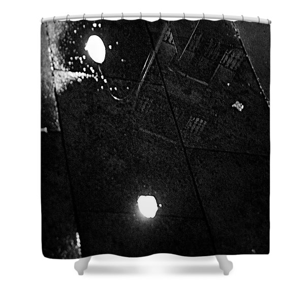 Shower Curtain featuring the photograph Reflection Of Wet Street by Agusti Pardo Rossello