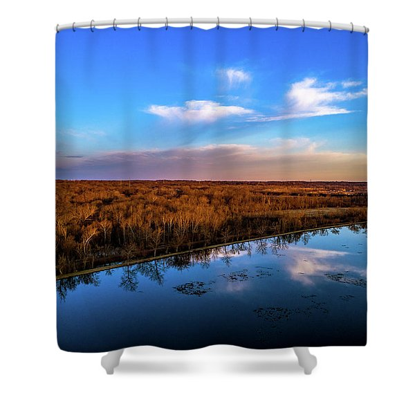 Reflection Pool Shower Curtain