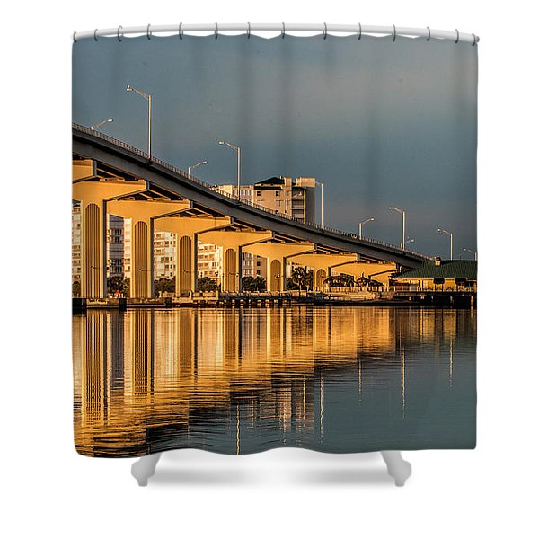 Reflections And Bridge Shower Curtain