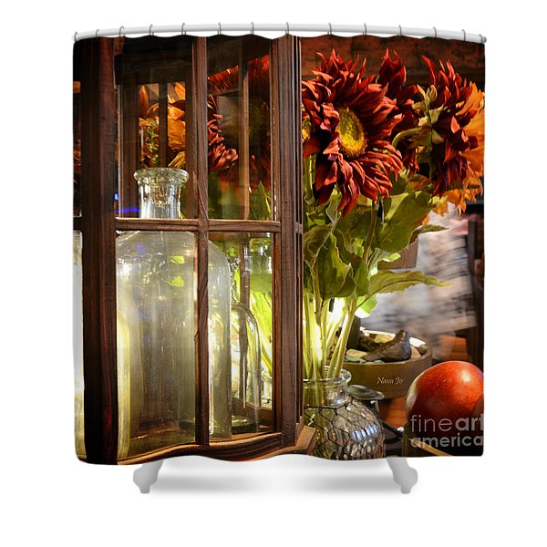 Reflections In A Glass Bottle Shower Curtain