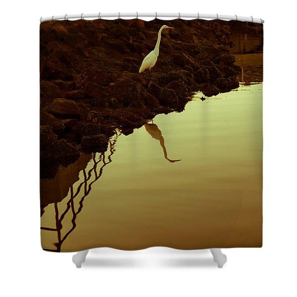Elegant Bird Shower Curtain