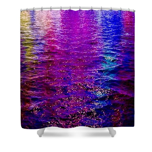 Shower Curtain featuring the painting Reflections by Mark Taylor
