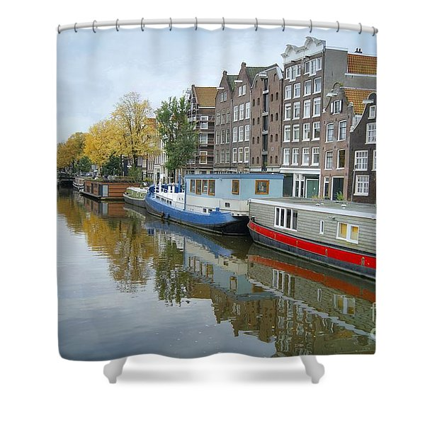 Reflections Of Amsterdam Shower Curtain