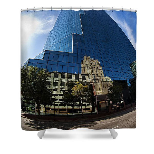 Reflections Of Fort Worth Shower Curtain