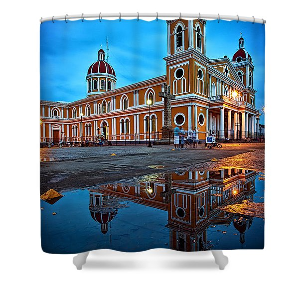 Reflections Of Granada, Nicaragua  Shower Curtain