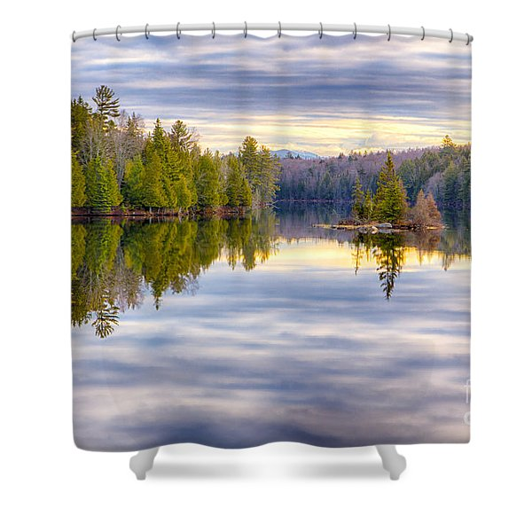 Reflections Of Lake Abanakee Shower Curtain