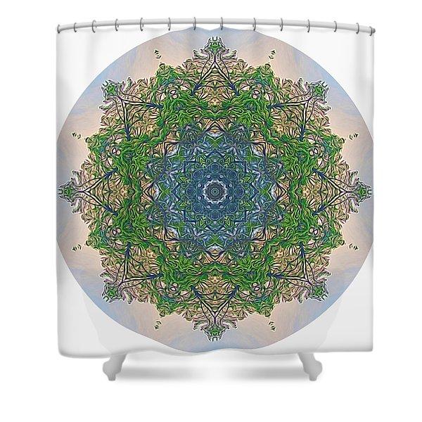 Reflections Of Life Mandala Shower Curtain