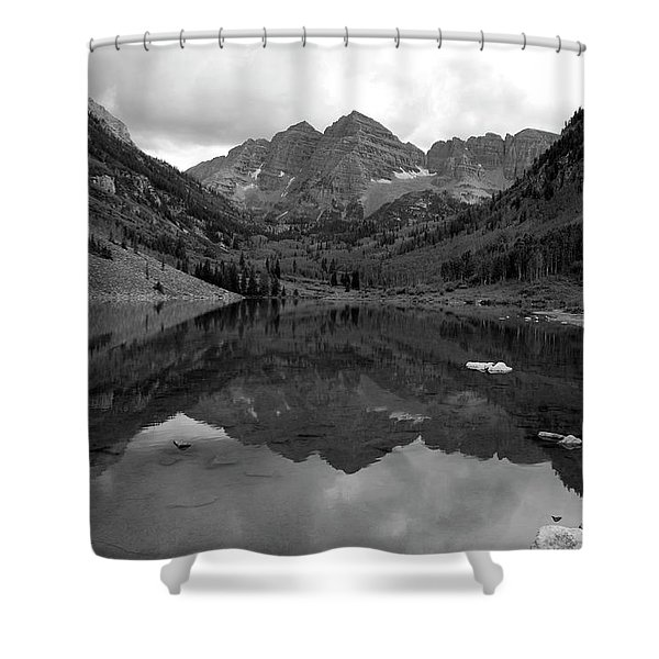 Reflections Of Maroon Bells Shower Curtain